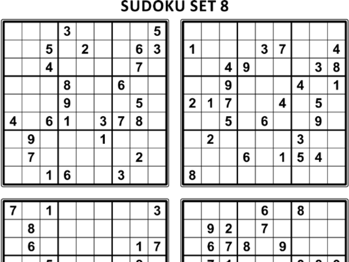 graphic about Sudoku Printable Pdf named Free of charge Sudoku Puzzles, Fastened 8