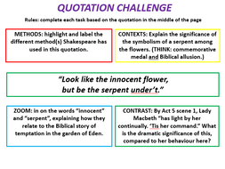 macbeth 10 x explode a quotation resources by mathew lynch