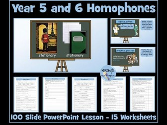 Homophones : Year 5 and 6