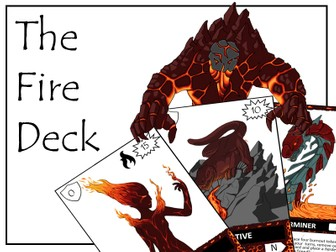 BATTLING GRAMMAR - The Fire Deck for the exciting grammar card game