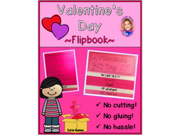 Valentine's Day DOUBLE-SIDED Flipbook!