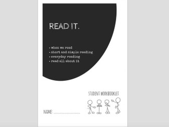 SPECIAL EDUCATION NEEDS - LITERACY - READ IT (1) workbooklet