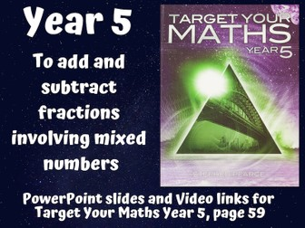 To add and subtract fractions involving mixed numbers (Year 5)