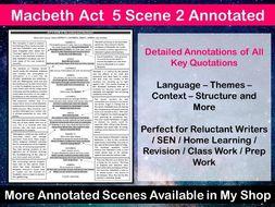 Macbeth Act 5 Scene 2 Annotated