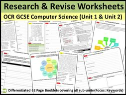 """OCR GCSE Computer Science Unit 1 and Unit 2 """"Research and Revise"""" Work Books"""
