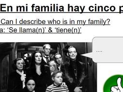 KS3 Year 7 Spanish Mira 1 Module 3 En mi familia Introducing family  members, names, ages 2 lessons