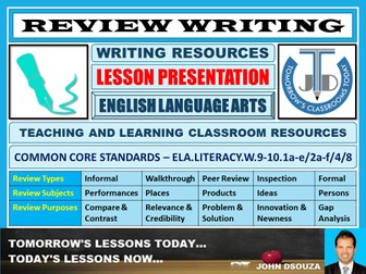 REVIEW WRITING : READY TO USE LESSON PRESENTATION