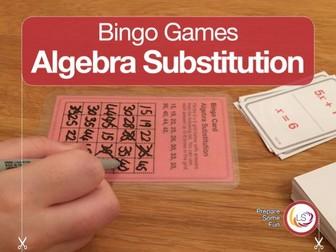 Algebra Substitution Bingo Game