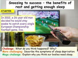 Sleep and Deprivation PSHE 2020