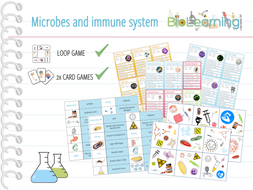 Microbes, pathogens and immune system - 4x Activities
