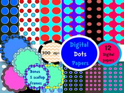 Digital Dots-Whimsy frames #5
