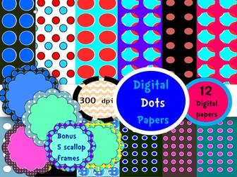 Digital Dots-Whimsy frames #5