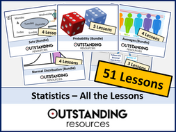 Statistics: All Lessons (51 Lessons) + All Resources