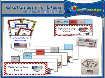Veteran's Day Interactive Foldable Booklets