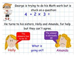 Order of Operation - Fluency, Reasoning and Problems