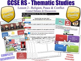 Religion, Peace & Conflict - Central Debates - L2/10 [GCSE RS - Thematic Studies - Christian Views]