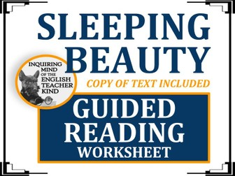 """""""Sleeping Beauty"""" by The Brothers Grimm - Guided Reading Worksheet"""