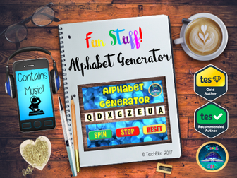 Back to School : Tutor Time -  Alphabet Generator