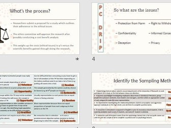 Ethics and Sampling - A2 Recap Revision - AQA Psychology Research Methods