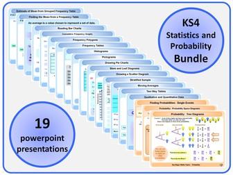KS4 Statistics and Probability BUNDLE