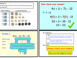 Solving Equations with Unknowns on Both Sides Version 1(notebook)