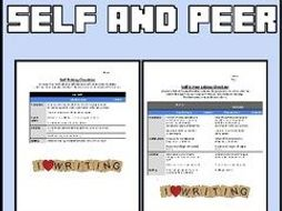 Self and Peer Editing Checklist (Editable in Google Docs)