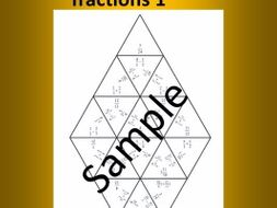 Adding and subtracting fractions 1 – Math puzzle