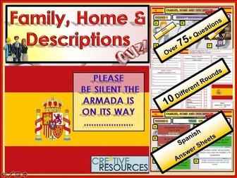 Family Home Descriptions Spanish MFL Quiz