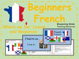 french lesson and resources ks2 where you live beginners by blossomingminds teaching. Black Bedroom Furniture Sets. Home Design Ideas