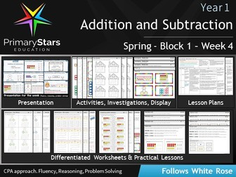 YEAR 1 - Addition - White Rose - WEEK 4 - Block 1 - Spring- Differentiated Planning & Resources