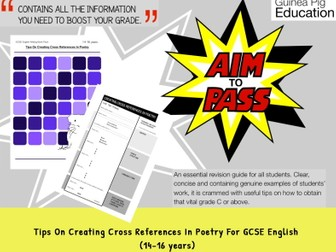Tips On Creating Cross References In Poetry (GCSE English Writing Work Pack) (14-16 years)