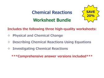 Chemical Reactions [Worksheet Bundle]