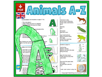 Animals & the Alphabet: 26 Complete Curriculum Lessons - UK Version (A4)