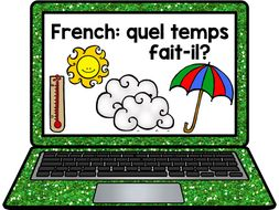 French Presentation and Games: Weather quel temps fait-il?