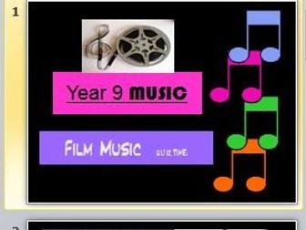 Film Music Quiz (Year 9)