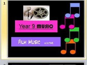 Film Music Quiz (Year 9)