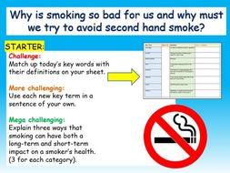 Smoking / Second-hand smoke PSHE