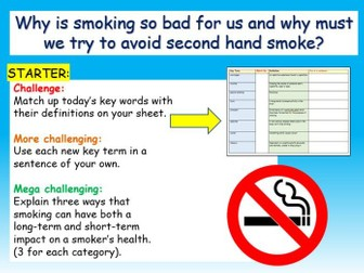 Smoking / Second-hand smoke PSHE