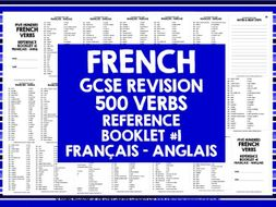 GCSE FRENCH: FRENCH 500 VERBS REFERENCE BOOK #1