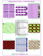 Demonstratives 7 Game Plus 2 Worksheet Bundle
