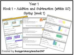 Year 1 - Addition and Subtraction (within 20) - block 1 - Spring (week 1)