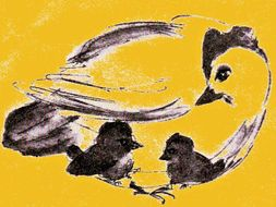 'Little Chick don't want his newborn brother' - a fairy-tale; short story for young children