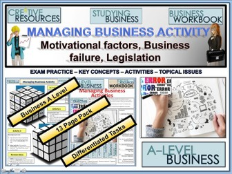 A level Business - Managing Business