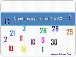 French: Numbers 1-30