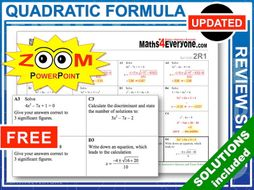 GCSE Revision (Quadratic Formula)