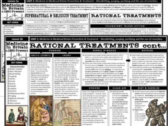GCSE History Edexcel - Medicine: Religious & Rational Treatments and Prevention (Lesson 5)