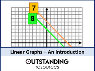 Linear Graphs 1 - Straight Line Graphs an Introduction (+ worksheet + visualiser)