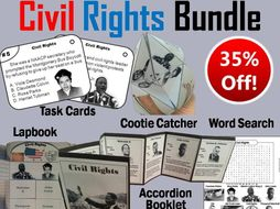 Civil Rights Task Cards and Activities Bundle
