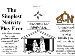 Simple Nativity Play Preparation Done Just Print And Distribute