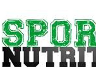 OCR Sports Science R045 Sports Nutrition
